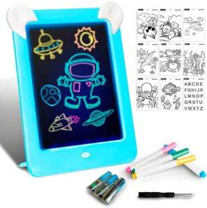 Tableta de dibujo luz led para niños